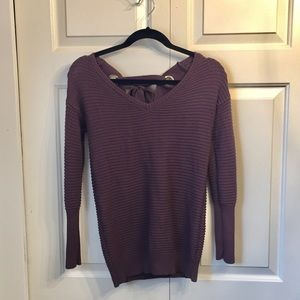 Purple Dynamite Sweater with Tie-up Back